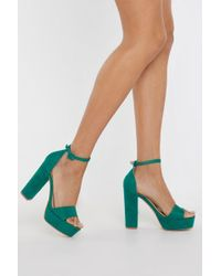 Nasty Gal - Your Love Keeps Lifting Me Faux Suede Heels - Lyst
