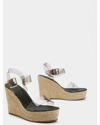"Nasty Gal - ""in The Open Perspex Woven Wedges"" - Lyst"
