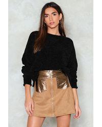 Nasty Gal | Pu Panel And Pocket Mini Skirt | Lyst