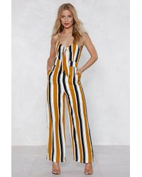 121bc78ee13 Lyst - Nasty Gal Swipe Right Drape Jumpsuit in White