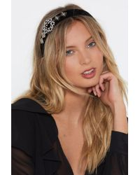 Nasty Gal - Embellish The Moment Pearl And Diamante Headband - Lyst