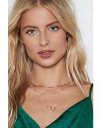 Nasty Gal - you've Got Layers Circle Necklace - Lyst