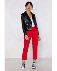 Nasty Gal - You're A Jean Machine Cropped Jeans - Lyst