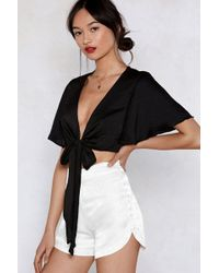 Nasty Gal - Button The Go Shorts - Lyst