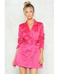 Nasty Gal - Belted Blazer Dress Belted Blazer Dress - Lyst