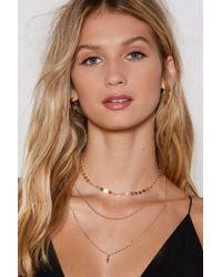 Nasty Gal - Triple Layer Chain Necklace Triple Layer Chain Necklace - Lyst