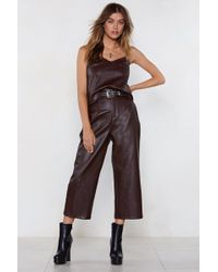 Nasty Gal - Because The Night Cropped Trousers - Lyst
