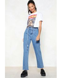 Nasty Gal - Above And Beyond Paperbag Jeans - Lyst