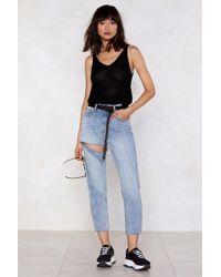 Nasty Gal - Slash And Burn High-waisted Jeans - Lyst