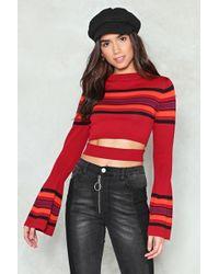 Nasty Gal - Striped Crop Waistband Knit Striped Crop Waistband Knit - Lyst