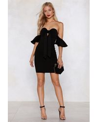Nasty Gal - What's Your Best Off-the-shoulder Dress - Lyst