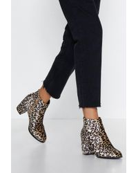 Nasty Gal - Meow Look Here Leopard Boot - Lyst