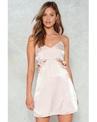 Nasty Gal | Cut Out Ruffle Mini Dress Cut Out Ruffle Mini Dress | Lyst