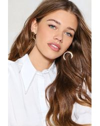 Nasty Gal | Mess With The Bull Horn Earrings | Lyst