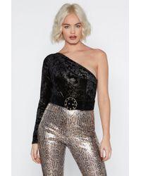 a27a1488648486 Nasty Gal - Get Out Plush Velvet Bodysuit - Lyst
