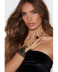 Nasty Gal - Take My Hand Crochet Harness Bracelet - Lyst