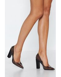 Nasty Gal - Stand Clear Pointed Heel - Lyst