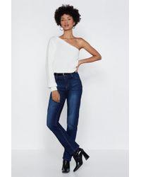 Nasty Gal - Set The Record Straight Denim Jeans - Lyst
