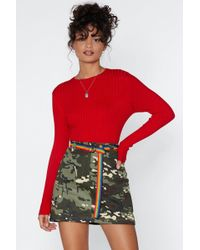 Nasty Gal - The Way Knit Is Ribbed Sweater - Lyst