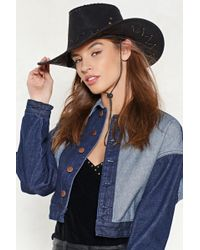 Nasty Gal - Calamity Jane Faux Suede Cowgirl Hat - Lyst