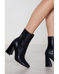 Nasty Gal - Flare For Dramatics Heeled Bootie - Lyst