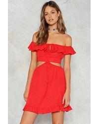 Nasty Gal - Cut Out Ruffle Dress Cut Out Ruffle Dress - Lyst