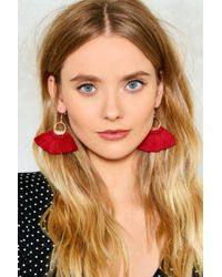 Nasty Gal - Let's Shoot Hoops Earrings - Lyst