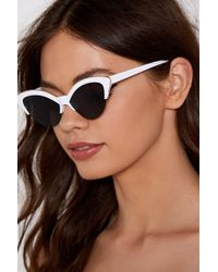 Nasty Gal - Nice To See Mew Cat-eye Shades - Lyst