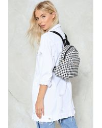 Nasty Gal - Want Gingham Backpack - Lyst
