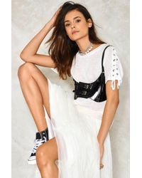 Nasty Gal - Try Your Harness Patent Belt Try Your Harness Patent Belt - Lyst