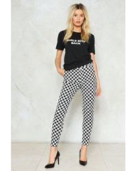 Nasty Gal - Check Please Checkerboard Pants - Lyst
