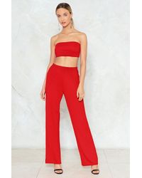 Nasty Gal - Fit Together Top And Pants Set Fit Together Top And Pants Set - Lyst