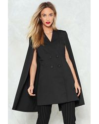 Nasty Gal - Double Breasted Cape Jacket Double Breasted Cape Jacket - Lyst