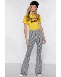Nasty Gal - Living On A Thin Line Flare Trousers - Lyst