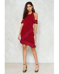 Nasty Gal - Don't Ruffle In Silence Halter Dress - Lyst