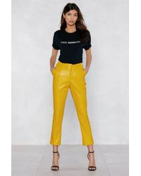 Nasty Gal - Make A Scene Faux Leather Trousers - Lyst