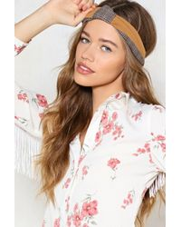 Nasty Gal - Knot Today Hun Check Headband - Lyst