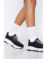 Nasty Gal - Socks To Be You Ribbed Socks - Lyst
