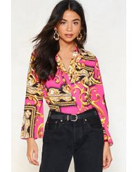Nasty Gal   Your Future Looks Bright Scarf Bodysuit   Lyst