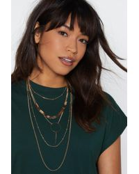 Nasty Gal - On Your Radar Layered Necklace - Lyst