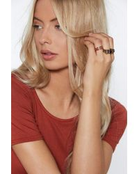 Nasty Gal - King Of The Jungle 3-pc Ring Set - Lyst