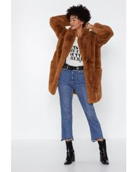 "Nasty Gal - ""surfin' Bird Faux Fur Coat"" - Lyst"