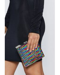 Nasty Gal - Want For Box Sake Sequin Bag - Lyst