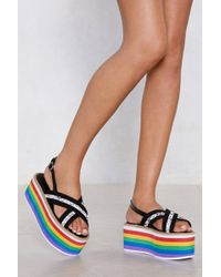 Nasty Gal - Do It With Pride Platform Sandal - Lyst