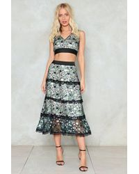 Nasty Gal - Sequin Or Lose Midi Skirt - Lyst