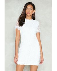 Nasty Gal - First Time Ever I Saw Your Lace Mini Dress - Lyst
