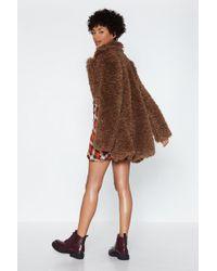 "Nasty Gal - ""can You Feel It Faux Fur Coat"" - Lyst"