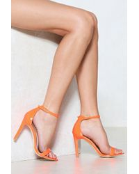 Nasty Gal | Worlds Apart Heeled Sandal | Lyst