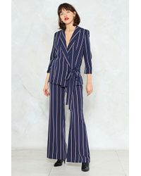 Nasty Gal - Striped Wide Leg Pants Striped Wide Leg Pants - Lyst