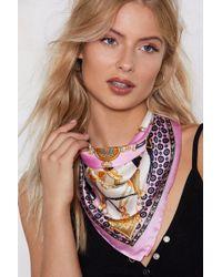 Nasty Gal - Take The Print Headscarf - Lyst